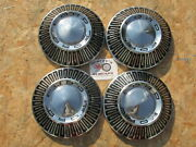 1965 1966 Ford Galaxie Cop Car Bronco Poverty Dog Dish Hubcaps Set Of 4