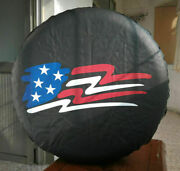 New 16 Spare Wheel Tire Cover With Us Flag Logo Easy Install Protector 29-31