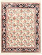 Vintage Hand-knotted Carpet 8and0392 X 10and0395 Traditional Cream Wool Area Rug