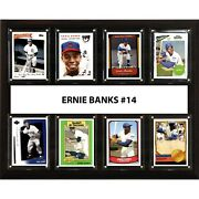 Candi Collectables-mlb 12x15 Ernie Banks Chicago Cubs 8 Card Plaque