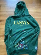 Nwot Lanvin X Gallery Dept Hoodie - Green Exclusive Painted - Size L