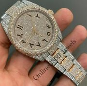 Menand039s Xl Size 41mm Dial Arabic Numerals Index Watch In Natural Vvs Moissanite