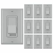 [10 Pack] Dimmer Switch 3 Way Or Single Pole For Dimmable Led Light 4.gray