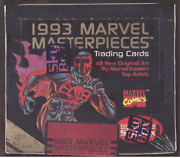 1993 Marvel Masterpieces Factory Sealed From Skybox Each Box Serial Numbered