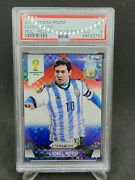 2014 World Cup Red White And Blue Power Plaid Lionel Messi Psa 9