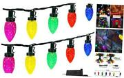 C9 Christmas String Lights Outdoor/indoor, Extendable 50 Led 49ft Waterproof