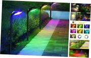 Solar Pathway Lights Outdoor 4 Pack 12led 7 Color Changing Garden Decorative