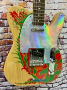 Fender Jimmy Page Led Zeppelin Natural Dragon Telecaster Electric Guitar W/case