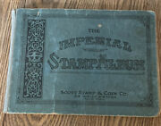 1919 Imperial Stamp Album With Late 19th/ Early 20th Century Stamps Usa + World