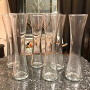 Libbey Crisa Glasses Hour Glass Shaped Set Of Six Vintage Glassware 8andrdquo Tall