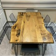 Center Dining Conference Top Epoxy Table Wooden Custom Top Table Hallway Decor