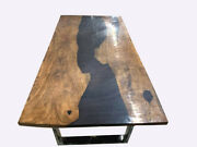Black Resin River Epoxy Table /epoxy Dining Table / Indian Wood Furniture Decor