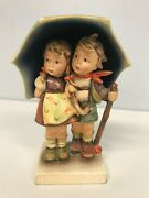 Antique Hummel Stormy Weather 71 Figurine With Tmk 1 Incised Double Crown