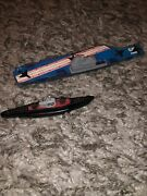 Vintage Tootsietoy Toy Submarine 47 Die-cast Made In Usa And Aircraft Carrier