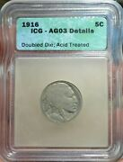 1916 Doubled Die Obverse Buffalo Nickel Details About Good 3 Rare Ddo Free Ship