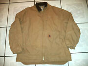 Mens  Sandstone Canvas Sherpa Lined Coat Size 2xl - Tall