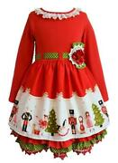 New Rare Editions Girls Size 3t Red Nutcracker Ballet Christmas Holiday Dress