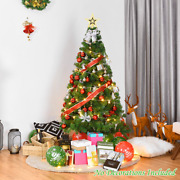 Artificial Pvc Hinged Xmas Pine Christmas Green Tree With Solid Metal Stand For