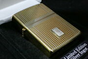 Exclusive Zippo Limited To 200 Pieces Sterling Silver Ingot Tegra Sg Satin