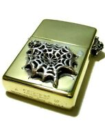 Bwl Bill Wall Leather Brass Web Zippo Mens Accessory Women And039s Oil Lighter