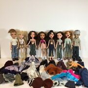 Bratz Vintage Large Lot Of 8 Dolls, Clothes, Shoes, Accessories, And Posters Read