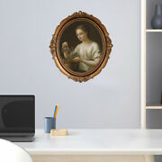 Antique Oval Photo Frame Picture Holder Bedroom Wall Hanging Decor Ornament