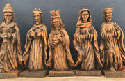 Nativity Set, Hand Carved Spanish Colonial, Late 18th-early 19th Century