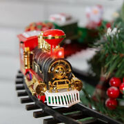 Electric Christmas Tree Train Set Sound And Lights Battery Operated 89 Cm Gift Toy