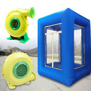 9ft Inflatable Cash Cube Money Machine Advertising Promotion W/ 2 Air Blowers Us