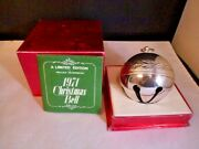 1971 1st Ed Wallace Silver Plated Sleigh Bell Christmas Ornament - Original Box