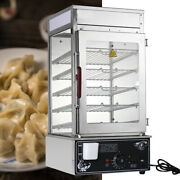 110v Commercial Bun Steamer Kitchen Electric Food Grade Auto Warmer Cooker 1.2kw