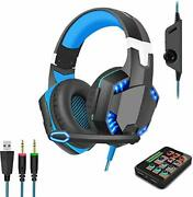 Voice Changer Gaming Headset With Mic For Xbox Onepcps4over-ear Headphones Wi
