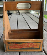 Vintage Pepsi Cola Wooden 6-pack Bottle Carrying Crate