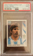 2006 Panini World Cup Lionel Messi Germany Stickers Soccer Psa 9 185