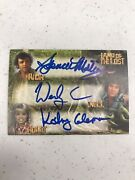 Land Of The Lost Cast Signed Card Rick Holly And Will
