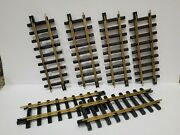 New Bright Holiday Express G Scale Straight Train Tracks 6 Pieces 380 Series