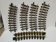 New Bright Holiday Express G Scale Curved Train Tracks 6 Pieces 380 Series