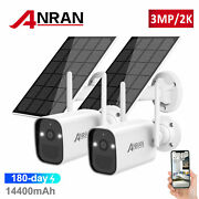 Battery Solar Panel Security Camera System Powered 2k Wirefree Home Outdoor Cctv