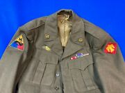 Wwii Ww2 Us Army Double Patched Uniform 14th Armored And 45th Infantry Division