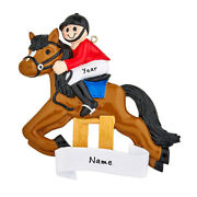 Personalized Equestrian Horse Rider Riding Horses Christmas Tree Ornament