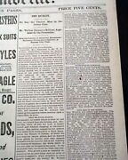1883 Frank James Train Robbery Trial Jesse Gang Gallatin Mo Not Guilty Newspaper