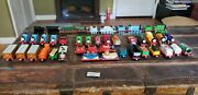 Thomas The Train Diecast Collection With Buildings And Trackwith Some Rare Cars