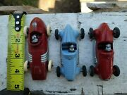 Rare Hubley And Tootsietoy Antique Vintage Race Car Lot Made In U.s.a Arcade Old