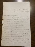 Joseph Story Autograph Letter Signed As Supreme Court Justice To Charles Sumner