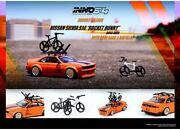 Inno64 164 Nissan Silvia S14 Rocket Bunny Boss Arero With Bikes And Roof Rack