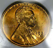 1935-s Lincoln Cent Ngc Ms-66 Rd..super Pretty Coin Virtually Perfect So Nice