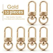 10x Lobster Clasps Swivel Trigger Clips For Bag Key Chain Snap Hook Clasp