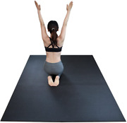 Revtime Extra Large Exercise Mat 8 X 5 Feet 96 X 60 X 1/4 6 Mm Thick And High