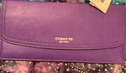 Coach Legacy Leather Soft Wallet - Ultraviolet 47990