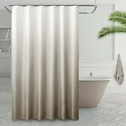 Home Textured Ombre Fabric Shower Curtains Sets For 72wx84l Light Brown